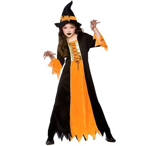 (M) Cauldron Witch Girls Witch Costumes Kids Witches Halloween Trick Treat Fancy Dress Up Outfits by Wicked Wicked