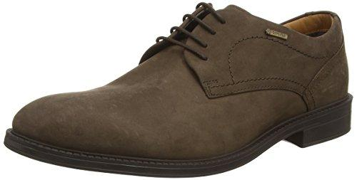 Clarks ChilverWalkGTX, Derby para Hombre, marrón (Dark Brown Nub), 43 EU