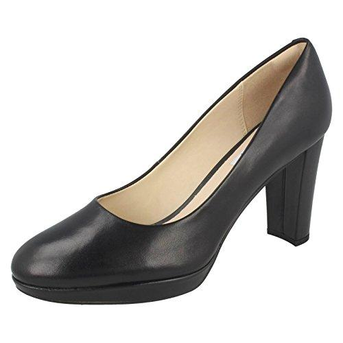 CLARKS Clarks Womens Shoe Kendra Sienna Black Leather 9.0 D