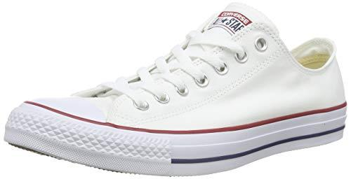 Converse Chuck Taylor All Star Season Ox, Zapatillas de Tela Unisex Adulto, Blanco, 42 EU