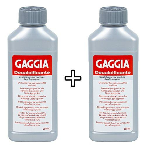 Gaggia Decalcifier Descaler Solution,250ml by Gaggia pack de 2
