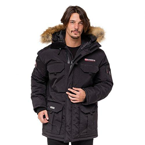 Geographical Norway Alpes, Chaqueta Bomber para Hombre, Negro (Black), XX-Large
