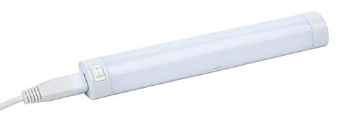 Leyton Lighting - Tira de luces LED acoplable (550 mm, 8 W, luz blanca cálida)