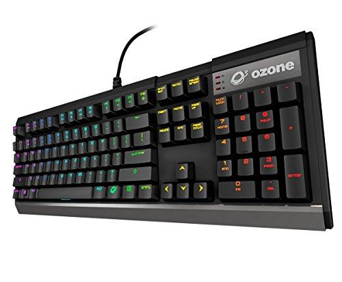 Ozone Gaming Gear Strike X30 Switches Kaihua RGB - Teclado mecánico, Color Negro