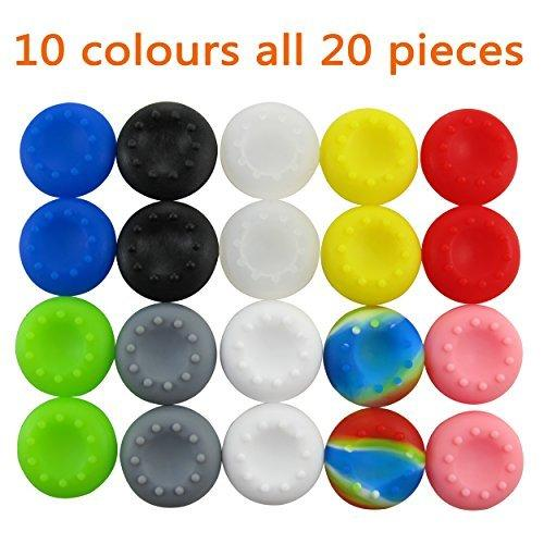 Pandaren pulgar agarre palo thumb grip caps 10 juegos Pack para PS2, PS3, PS4, Xbox 360, Xbox One, Wii U, Switch PRO Mando