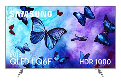 "Samsung QLED 2018 65Q6FN - Smart TV Plano de 65"", 4K UHD resolución, HDR 1000, Control One Remote, versión española, Color Plata"