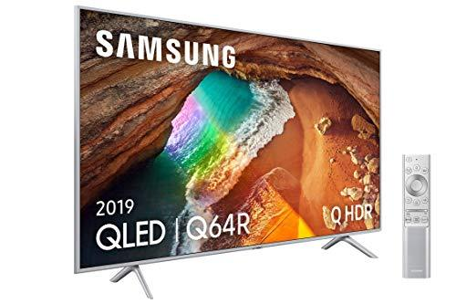 "Samsung QLED 4K 2019 55Q64R - Smart TV de 55"" con Resolución 4K UHD, Supreme Ultra Dimming, Q HDR, Inteligencia Artificial 4K, Diseño Metalico, Premium One Remote, Apple TV y Compatible con Alexa"