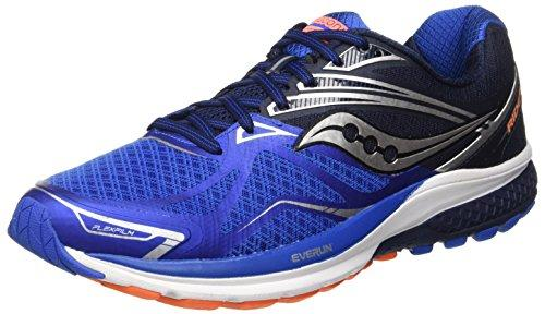 Saucony Ride 9, Zapatillas de Running para Hombre, Azul (Grey/Blue/Orange), 45 EU