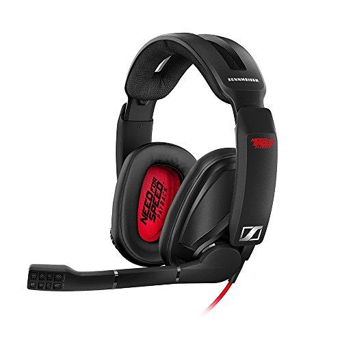 Sennheiser GSP 303 Need for Speed Payback Edition - Microauricular para Gaming, Color Negro y Rojo