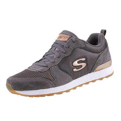 Skechers Women's RETROS-OG 85-GOLDN GURL Trainers, Grey (Charcoal Suede/Nylon/Mesh/Rose Gold Trim Ccl), 5 UK (38 EU)