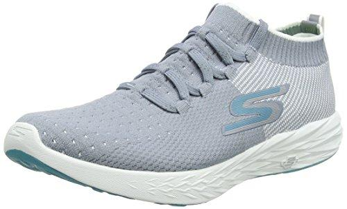 Skechers Performance Go Run 6, Zapatillas Deportivas para Interior para Mujer, Gris (Grey/White), 38 EU