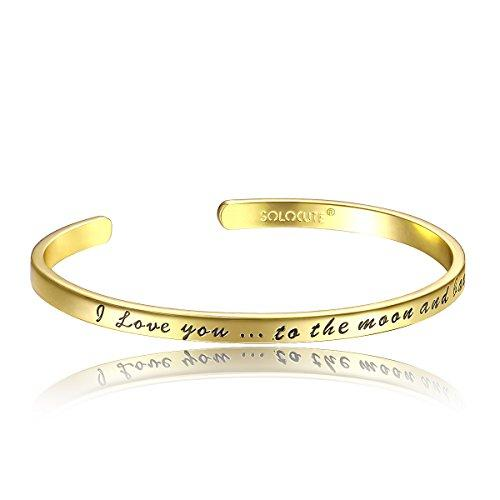 "SOLOCUTE ""I Love You to the Moon And Back"" Pulsera Mujer Joyería"