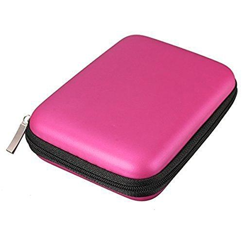 "Topdo Funda para Disco Duro Externo 2.5"" para Toshiba Canvio Basics/Seagate Backup Plus Slim/WD Western Digital My Passport Ultra Elements Disco Duro Externo portátil Cajas 1TB 2TB USB 3.0 Rosa"