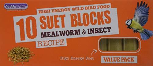 Unipet Wild Bird Suet Value Insect Block 300 g (Pack of 10)