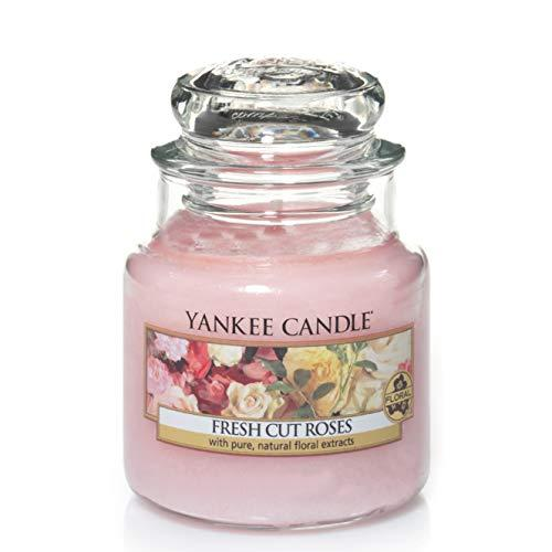 Yankee Candle Small Jar Candle, Fresh Cut Rose