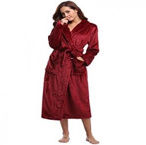 136c34ce0 Aibrou Unisex Calientes Albornoz Invierno Batas Kimono Baño para Hombre y  Mujer