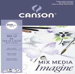 Canson Imagine - Bloc papel de dibujo, A5 - 14,8  ...