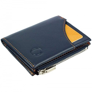 2464f8f6c Cartera pequeña con Monedero para Hombre - Billetera de Piel con Tarjetero  RFID y Monedero con
