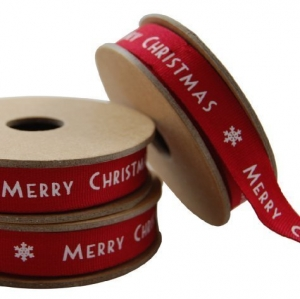 East of India NEW FOR 2011 Red Merry Christmas Ribbon by East of India