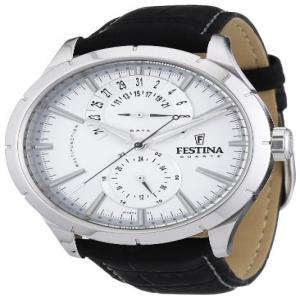 3428a9b330e7 Festina F16573 1 - Reloj analógico de cuarzo para hombre con correa de piel
