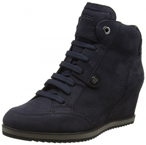 Geox D Avery a, Zapatillas para Mujer, Negro (Black), 38 EU (5 UK)