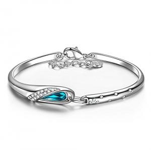 a9a2026a0336 Pauline   Morgen Cenicienta Pulsera Mujer Joyería con cristales Swarovski  Azul 18+2cm regalos cumpleaños