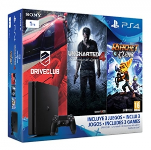 PlayStation 4 Slim (PS4) 1TB - Consola + Uncharted...