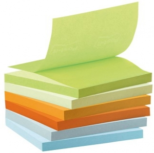 Post-it Recycled Z-Notes Pastel Rainbow Tower - Ta...