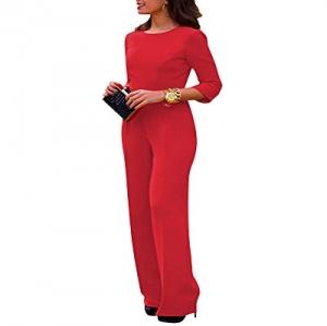 7e6051afa2d Mujer Sin Respaldo Mono Jumpsuits Elegante Bodysuit Pantalones Largos para  Fiesta Playa Rojo M