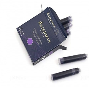 Waterman S0110980 Cartuchos de tinta morada perman...