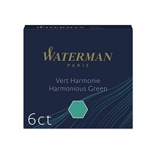 Waterman S0110990 Cartuchos de tinta verde permane...