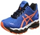 Asics Gel Nimbus 18 - Zapatillas de Running, Unisex, Azul (Electric Blue / Hot Orange / Black), 48
