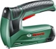 Bosch PTK 3,6 LI - Grapadora a batería, Softgrip, Push and Release, 3.6 V, color verde y negro