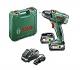 Bosch  060397330H - Taladro atornillador con batería de litio PSR 18 LI-2 (2 velocidades, 45 W, 18 V, 2,5 Ah, cargador 1 hora, 2 baterías, maletín, punta doble)