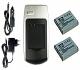 Cargador + 2 Baterías NP-BG1 para Sony Cyber-Shot DSC-HX20V HX30 N1 N2 T20 T25 +otros, ver lista!