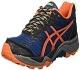 ASICS GEL-Fujitrabuco 5, Zapatillas de Running para Hombre, Azul (Poseidon/Flame Orange/Safety Yellow), 42.5 EU