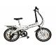 Littium By Kaos Ibiza LCD Bicicleta Eléctrica Plegable, Unisex Adulto, Blanco, XL