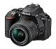 Nikon D5500 - Cámara digital Reflex de 24.2 MP, color negro - Kit con objetivo AF-S DX Nikkor 18-55mmm f/3.5-5.6G VR II