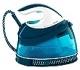 Philips GC7805/20 2400W 1.5L Suela de SteamGlide Azul, Color blanco estación plancha al vapor - Centro de planchado (2400 W, 5,3 bar, 1,5 L, 250 g/min, 120 g/min, Suela de SteamGlide)
