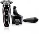 Philips Serie 9000 S9521/32 - Afeitadora eléctrica con barbero, sistema SmartClean, funda de viaje, color negro y morado