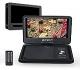 (Con Soporte de Coche)Reproductor DVD Portátil de Coche Soporta USB / SD / AV-in / AV-out,2600mAh Batería Interna, Color Negro