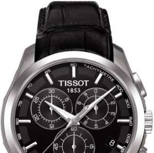 Tissot T0356171605100 - Reloj analógico de caballero de cuarzo con correa de piel negra