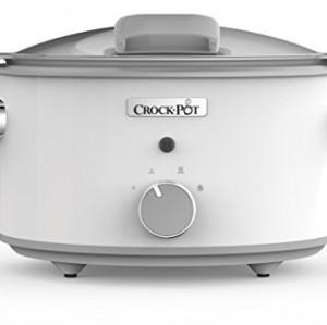 Crock-Pot DuraCeramic CSC038X - Olla de cocción lenta manual de 4.5 L, color blanco