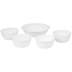 Corelle Livingware Corelle Fun Packs, 5 Pieces, Winter Frost White by Corelle