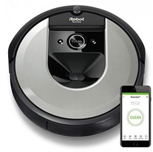 iRobot i7 Roomba - Robot aspirador adaptable al hogar, ideal para mascotas, alta potencia de succión con 2 cepillos de goma, con conexión Wifi y programable  por app