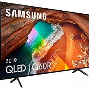 Samsung QLED 4K 2019 55Q60R - Smart TV de 55  con Resolución 4K UHD  Supreme Ultra Dimming  Q HDR  Inteligencia Artificial 4K  One Remote Control  Apps exclusivas y Compatible con Alexa