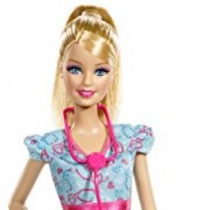 Barbie - Quiero ser Enfermera, muñeca y Accesorios (Mattel BDT23)