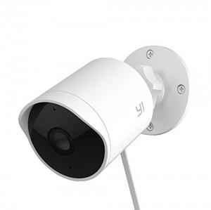 YI 90H30WHQ000A, Cámara IP de vigilancia Exterior 1080p Visión Nocturna 2 Vías de Audio Alarma de Disuasión Impermeable Servicio de Nube es Disponible, Blanco