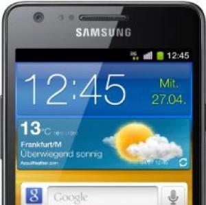 Samsung Galaxy I9100 Smartphone