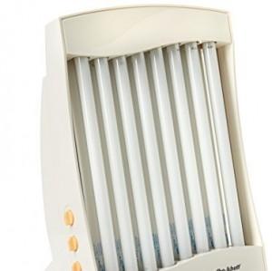 Efbe-Schott, Solarium Facial con 8 lámparas, 150 W, 2 gafas de protección incluidas, Blanco, SC GB 838